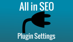 All in SEO plugin settings