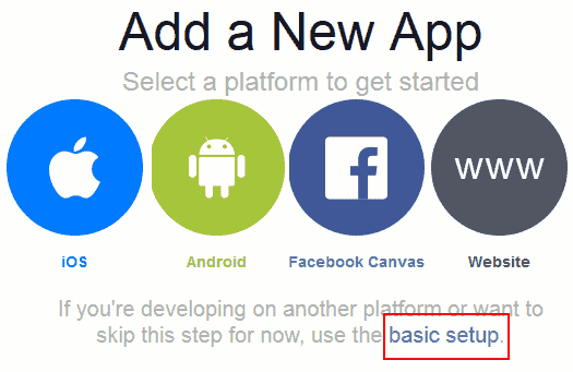 Facebook basic setup