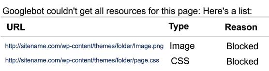 blocked resources