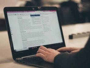 Blogging on computer
