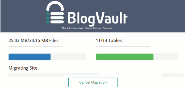 Blogvault blog migration status