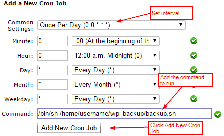 Setting up Cpanel Cron Job