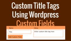 Add custom title tags