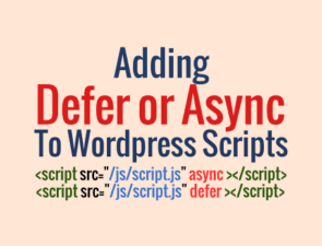 Add async and defer to js