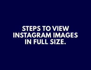 Full size instagram images tutorial