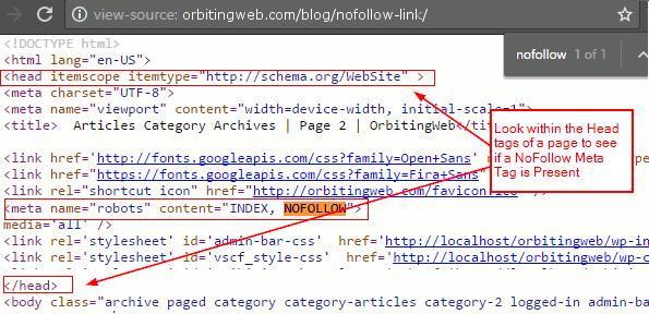 Identify NoFollow Meta Tags