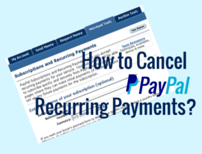 Cancel Paypal subscriptions