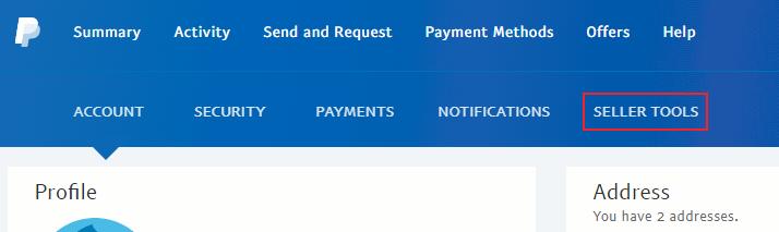 Paypal seller tools