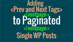 Prev and Next tags for single posts