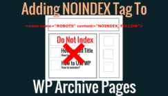 Noindex WP pages