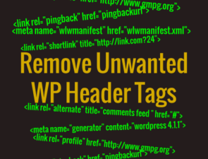 Unwanted wp tags