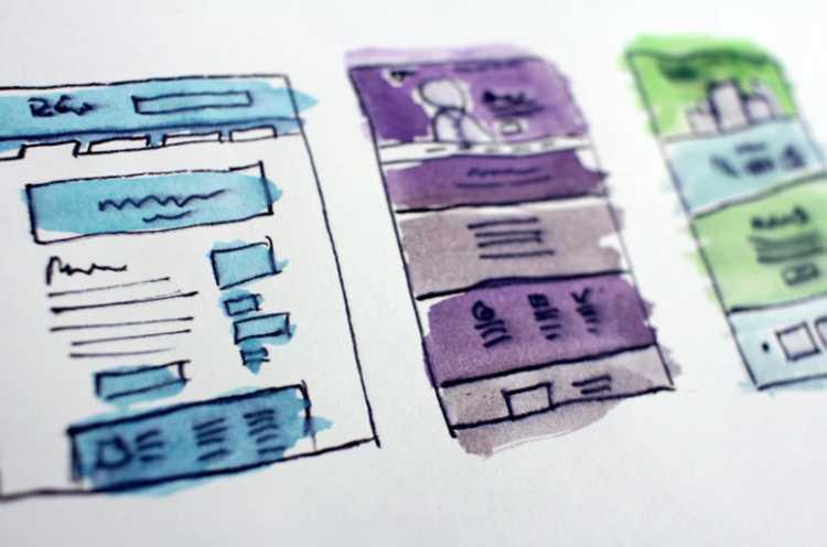 Web design on paper
