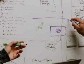 Whiteboard marketing scribbles