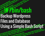 Wordpress backup script